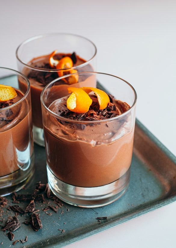 5-Ingredient Brandy Orange Chocolate Mousse Vegan Recipe
