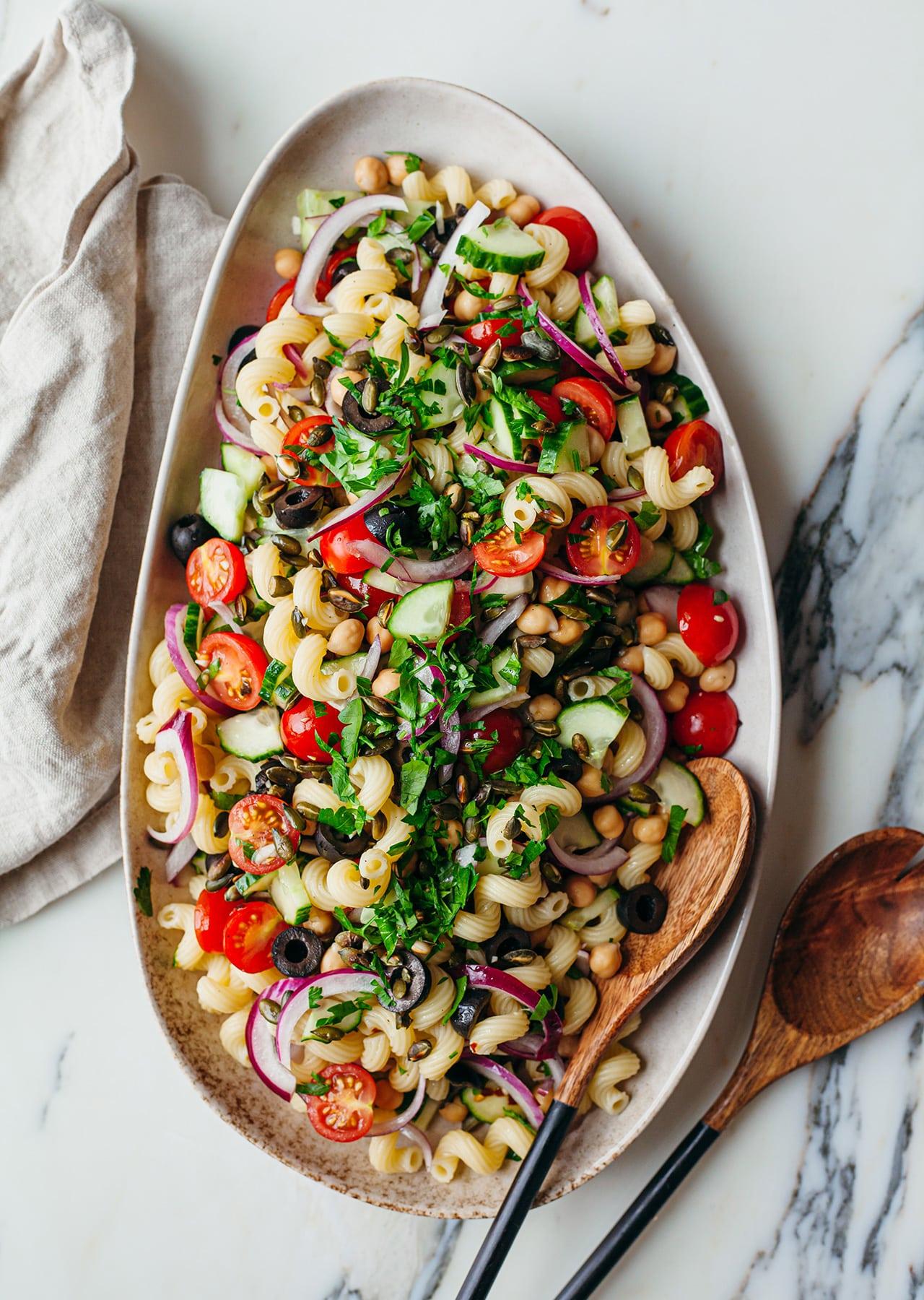 15-Minute Vegan Pasta Salad Recipe