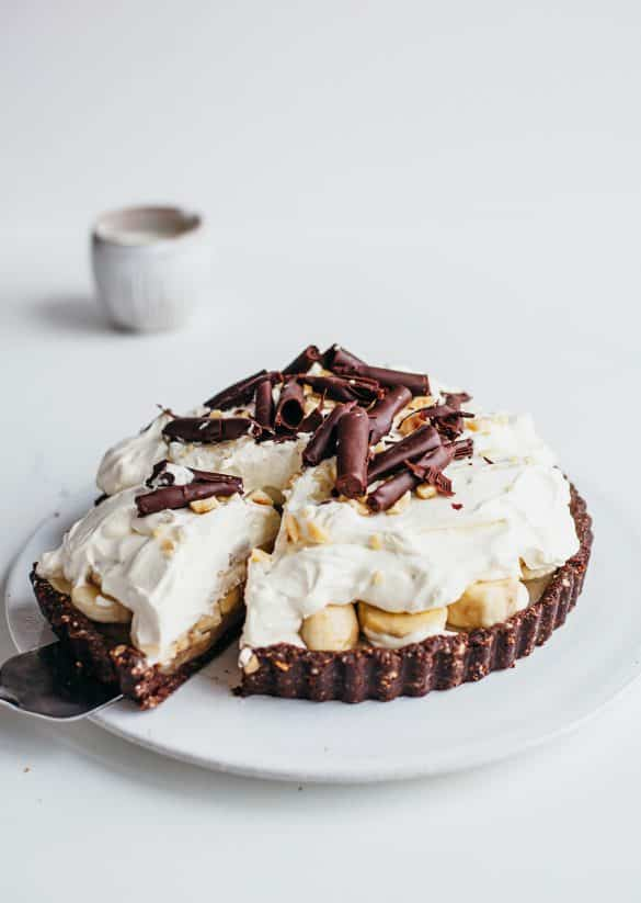 Chocolate & Hazelnut Banoffee Pie Vegan Recipe