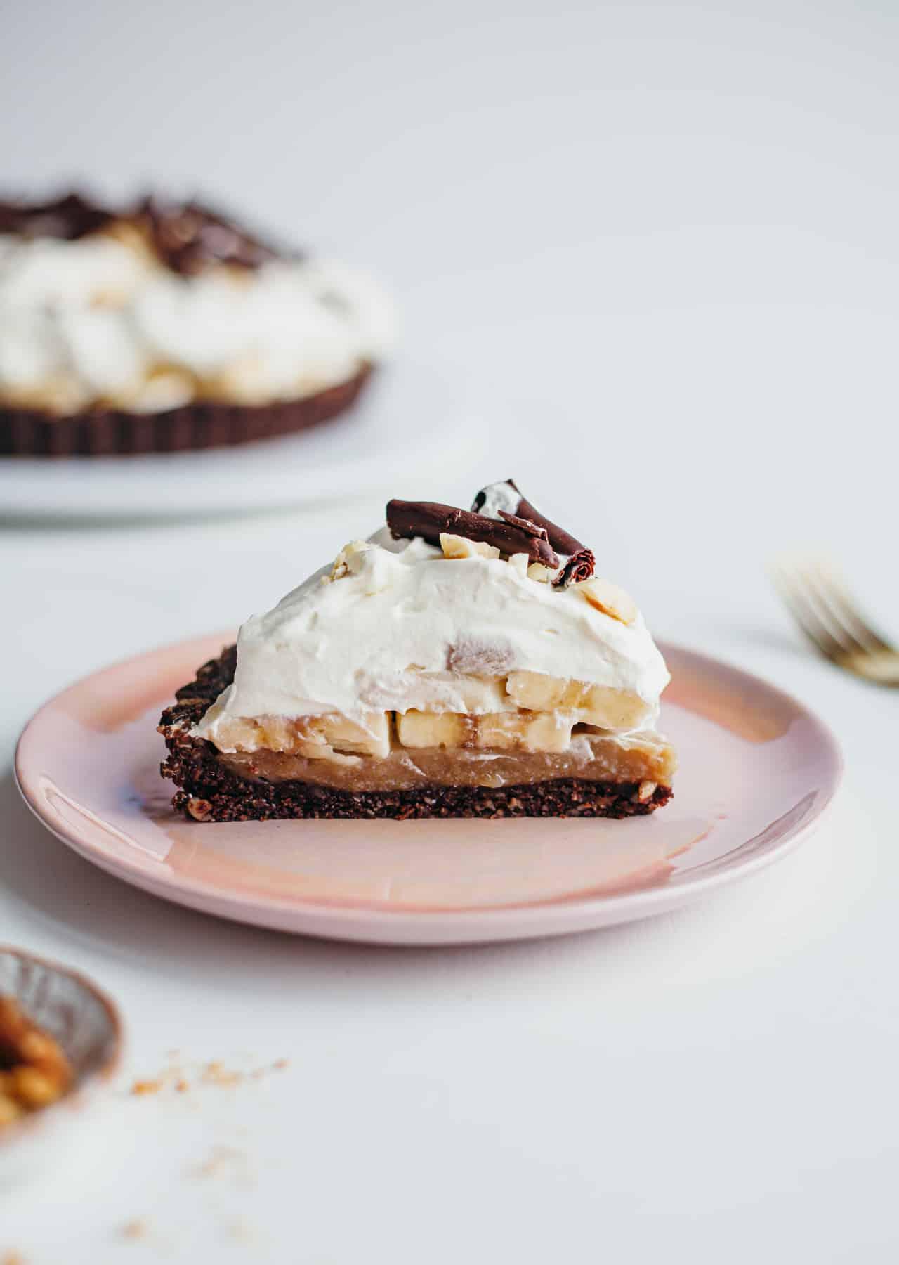 Chocolate & Hazelnut Banoffee Pie Vegan Recipe