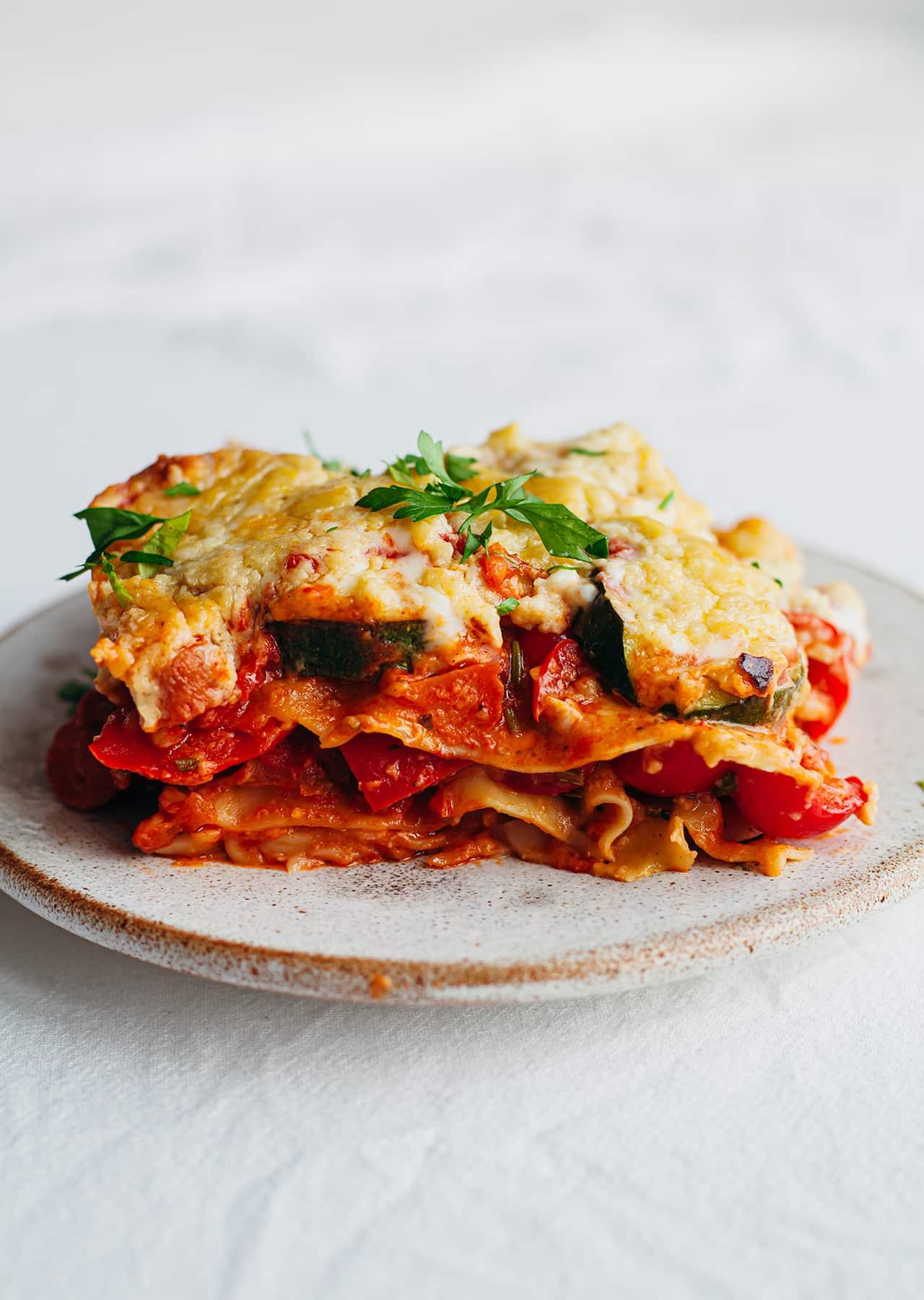 Vegan Roasted Vegetable Lasagne Recipe