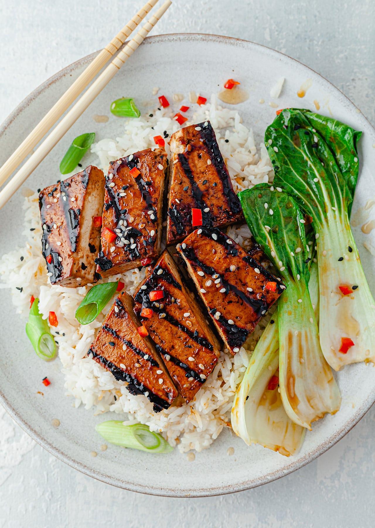 Teriyaki Tofu Steaks Vegan Recipe