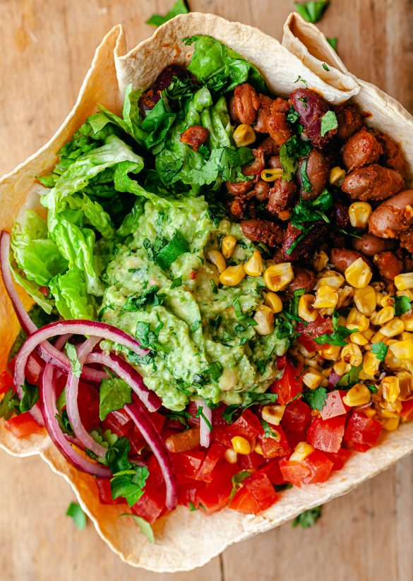 Crispy Tortilla Taco Bowl Vegan Recipe