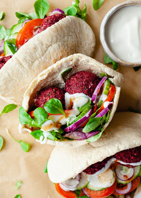 Baked Beetroot Falafel Recipe Vegan