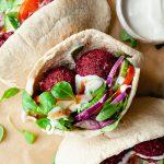 Baked Beetroot Falafel Recipe Vegan