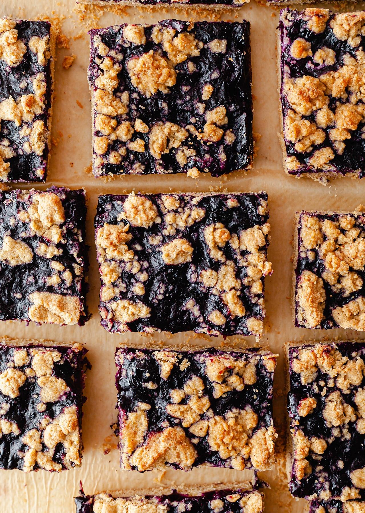 Vegan Blueberry Crumble Squares Recipe