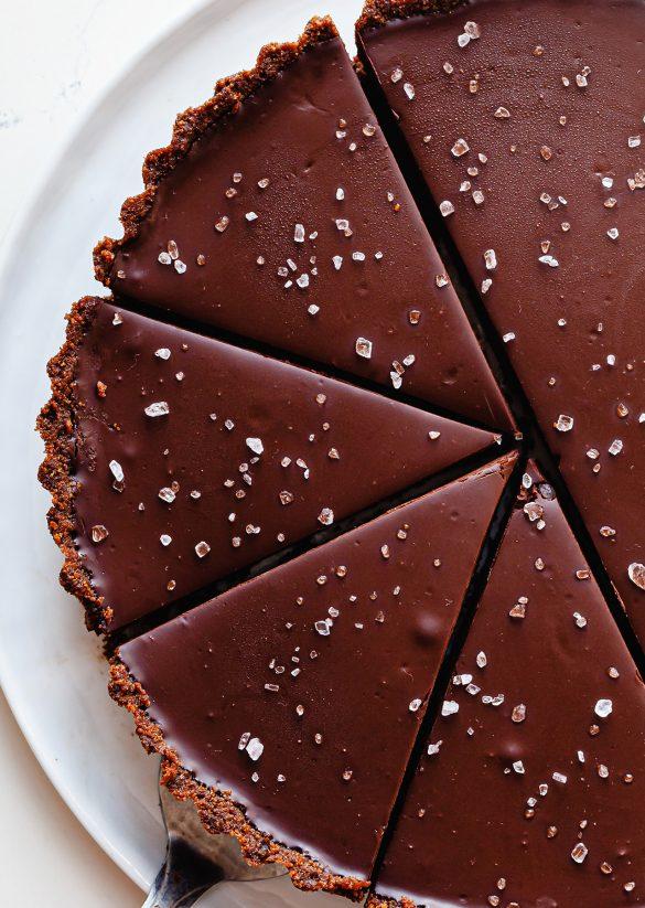 Vegan Salted Chocolate Orange Tart Recipe