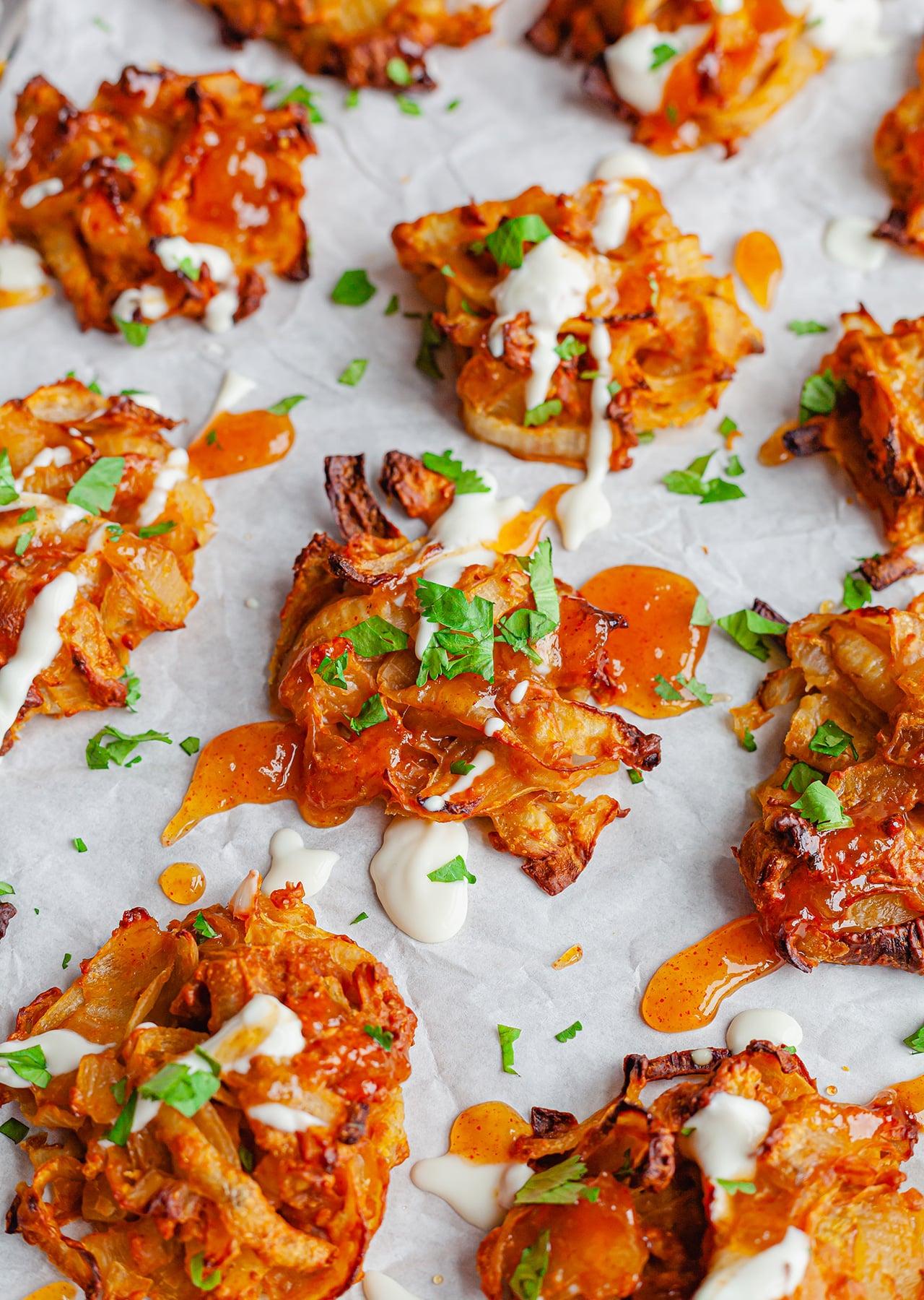 Vegan Baked Onion Bhajis Recipe