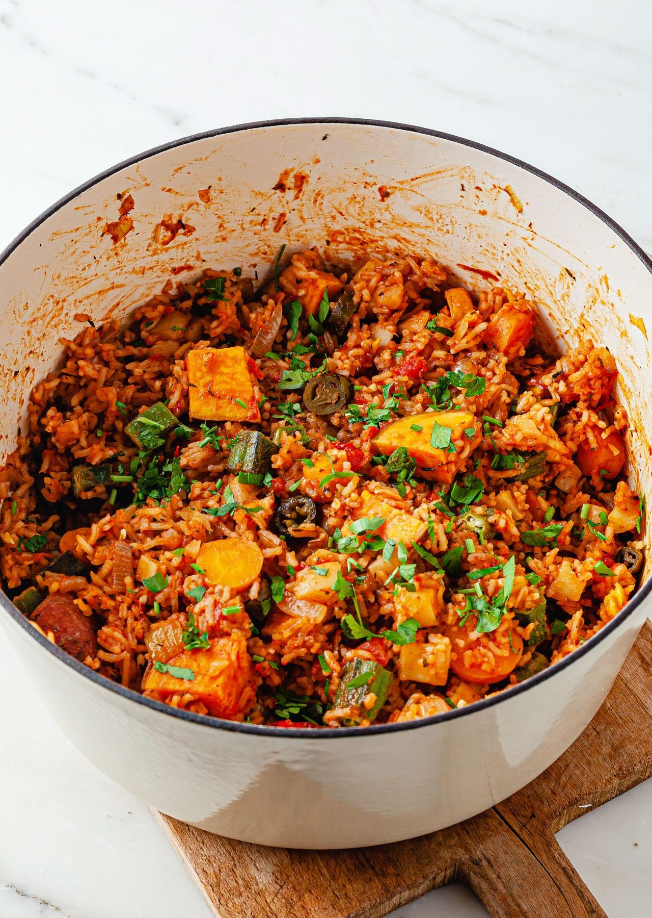 One Pot Vegan Jambalaya Recipe