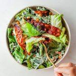 Vegan Carrot Bacon Caesar Salad Recipe