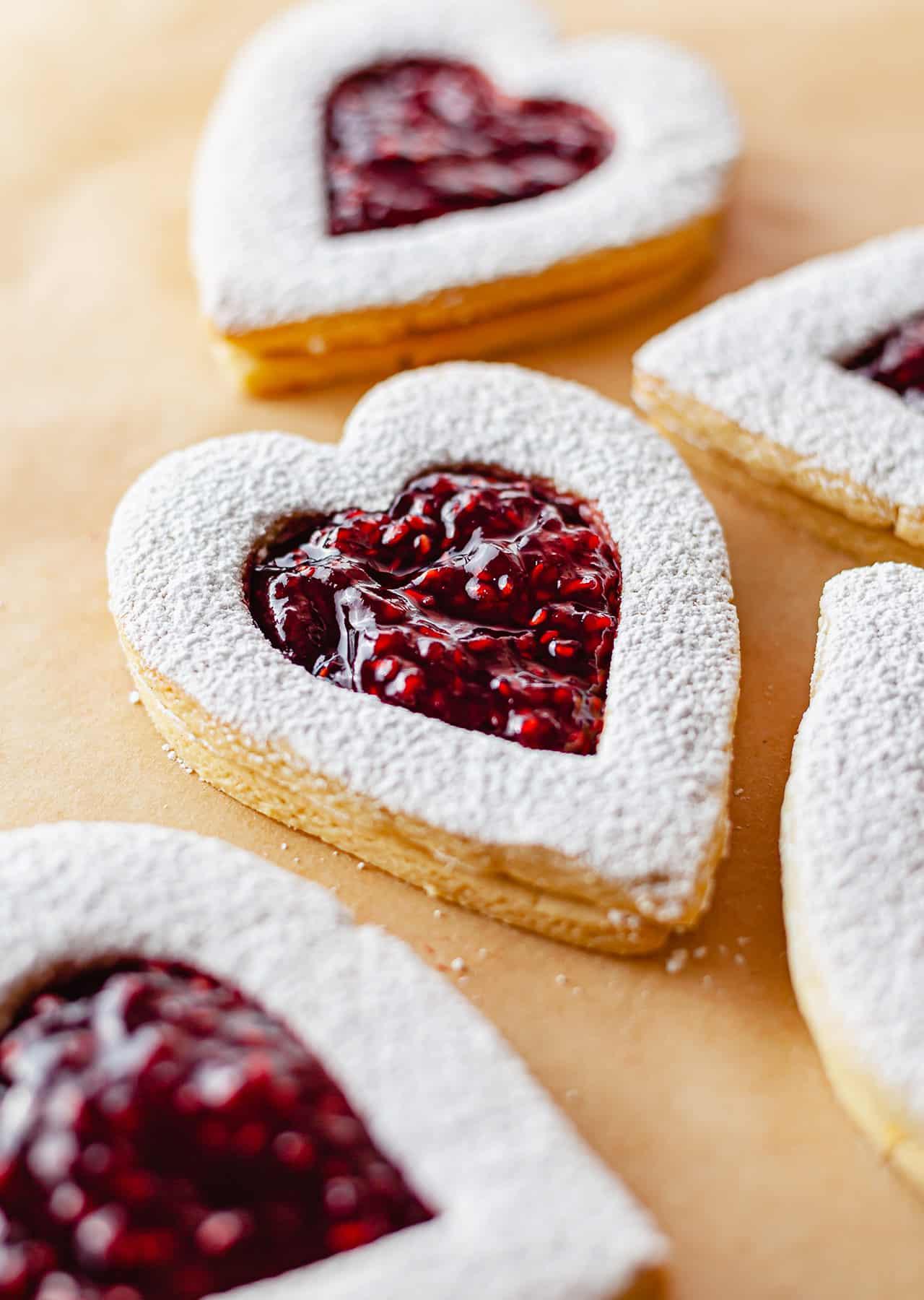 Vegan Jammy Heart Jam Biscuits Recipe