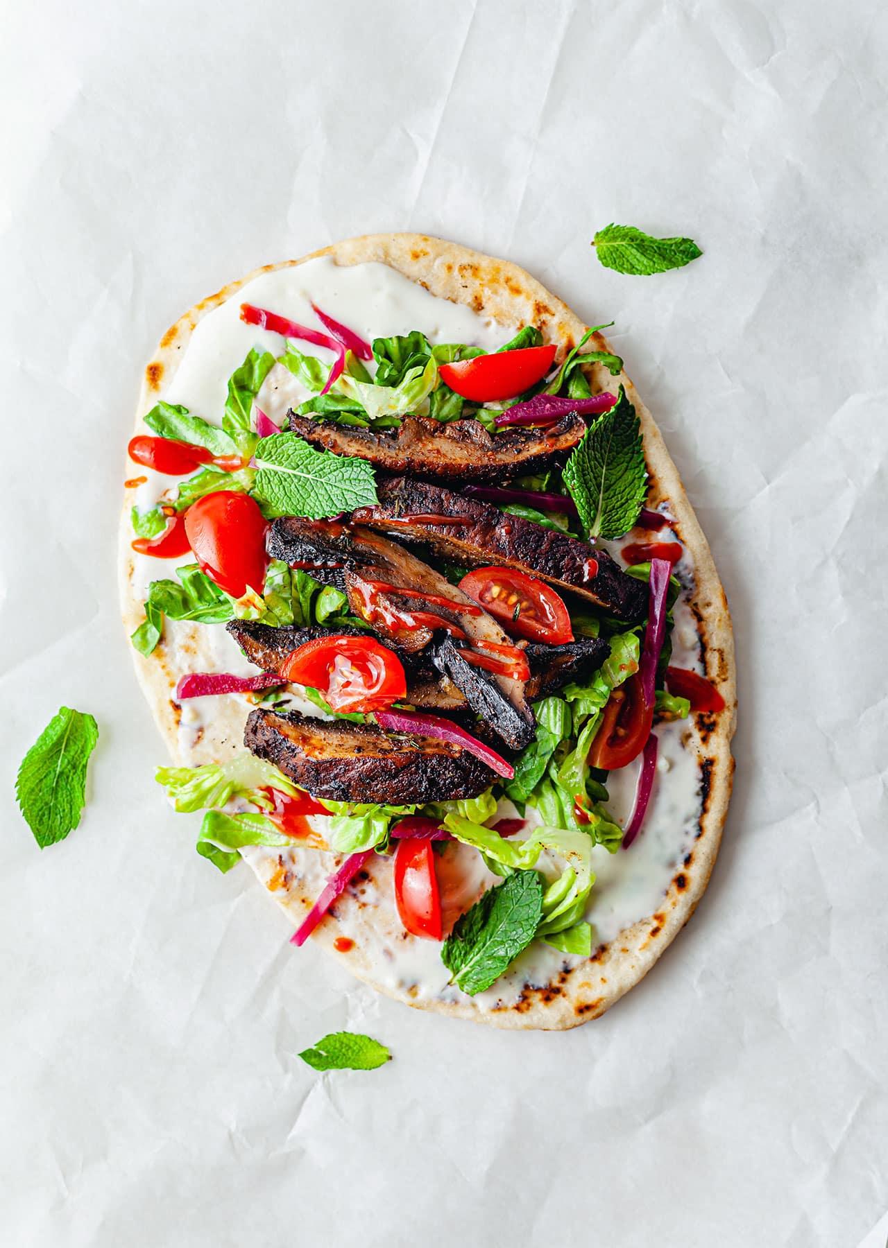 Vegan Mushroom Shawarma Recipe