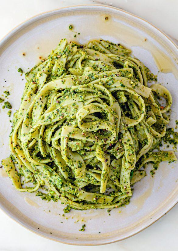 Pistachio Pesto Pasta Vegan Recipe